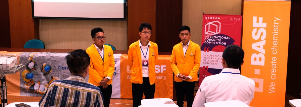 Mahasiswa Teknik Sipil Juara III International Concrete Competition